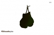 Boxing Gloves Silhouette Free Vector Art