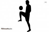 Kicking A Soccer Goal Silhouette