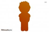 Cartoon Man Silhouette Art