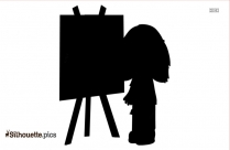 Kid Painting Silhouette