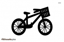 Bicycle Cartoon Silhouette Free Vector Drawing