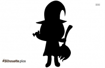 Halloween Cute Vampire Illustration Silhouette