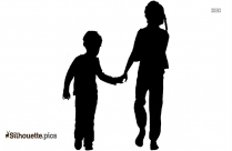 Child Playing Silhouette Picture