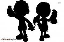 Kids Science Cartoon Silhouette