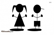Cartoon Guy Flying Clip Art Silhouette