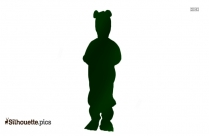 Kids Toddler Frog Costume Girl Silhouette