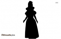 Kids Toddler Snow Princess Costume Silhouette