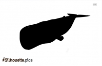 Cute Cartoon Fish Silhouette Image