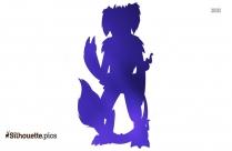 King Ghidorah Art Silhouette
