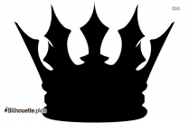 King Crown Silhouette Black And White