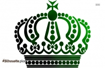 King Crown Silhouette Clipart