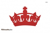 King Crown Silhouette, Crown Emoji Vector Illustration
