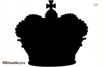 King Crown Silhouette Image