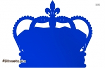King Crown Silhouette Vector Clipart