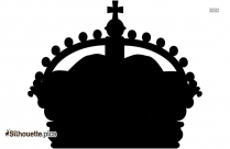 King Crown Silhouette Vector Image