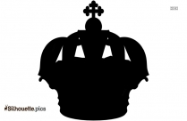 King Crown Stencil Silhouette Art