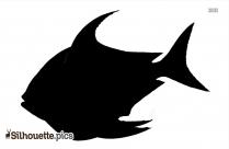 Cartoon Fish Silhouette Image