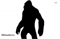 King Kong Black And White Silhouette