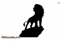 King Lion Clipart Silhouette