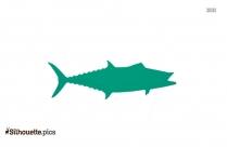 Cartoon King Mackerel Fish Silhouette