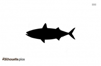 King Mackerel Fish Silhouette Background