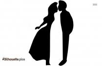 Kissing Silhouette Photo, Romantic Couple Image