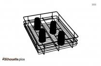 Kitchen Basket Silhouette Vector, Clipart