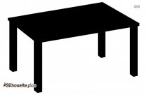 Plastic Table Silhouette Image And Vector