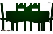 Yard Table Silhouette Background