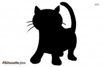 Cute Kitten Silhouette