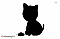 Kitty Cat Silhouette Image