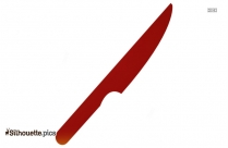 Kitchen Knife Silhouette Image And Vector