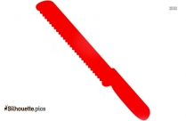 Cartoon Knife Silhouette Clipart