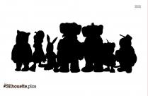 Koala Brothers Cartoon Silhouette