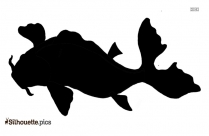 Black Cartoon Fish Silhouette Image