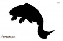 Japanese Koi Fish Silhouette Clipart