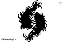 Koi Fish Silhouette Clipart