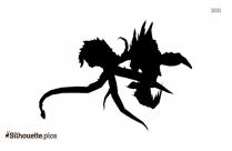 Dragon Emoticon Logo Silhouette For Download