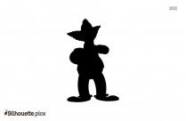 Krusty The Clown Silhouette Clip Art