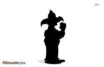 Krusty The Clown Silhouette Icon
