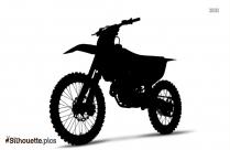 Ktm Motocross Silhouette Clipart