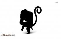 Black Gorilla Silhouette Clipart Image