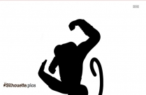 Goofy Cartoon Character Silhouette