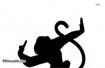Kung Fu Panda Monkey Silhouette Black