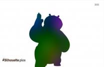 Kung Fu Panda Po Silhouette