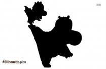 Kung Fu Panda Silhouette Vector Art