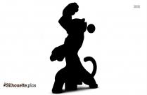 Kung Fu Panda Silhouette Vector