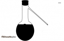 Laboratory Flask Silhouette Drawing