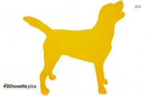 Dog Sitting Silhouette Image And Vector