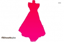 Edwardian Dress Silhouette Image And Vector